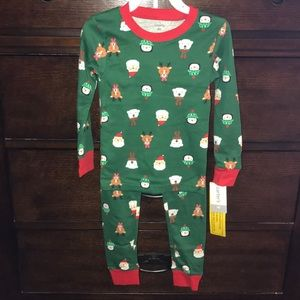 Carter's 4T green Christmas pajamas 2 piece nwt